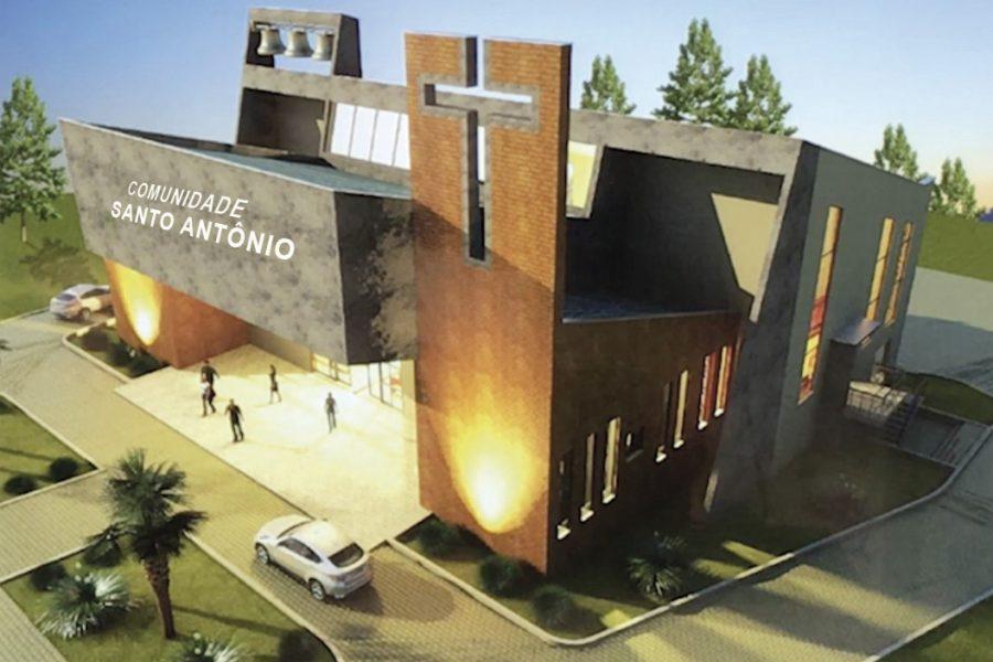 Projeto arquitetônico da nova Igreja Santo Antônio – Pires