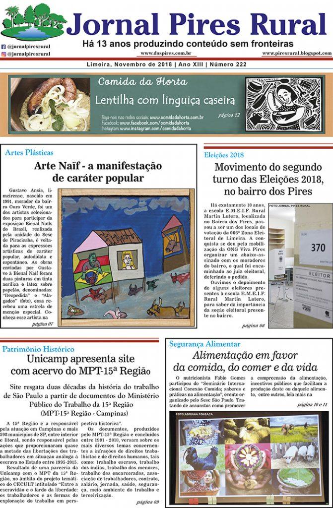 Edição 222 - Jornal Pires Rural - Novembro 2018