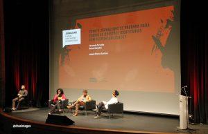 """Seminário """"Jornalismo: as novas configurações do Quarto Poder"""", realizado no Sesc Vila Mariana."""