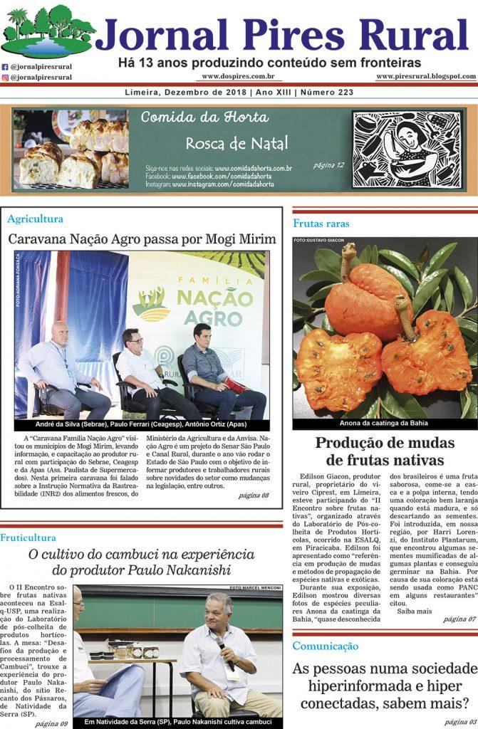Edição 223 - Jornal Pires Rural - Dezembro 2018