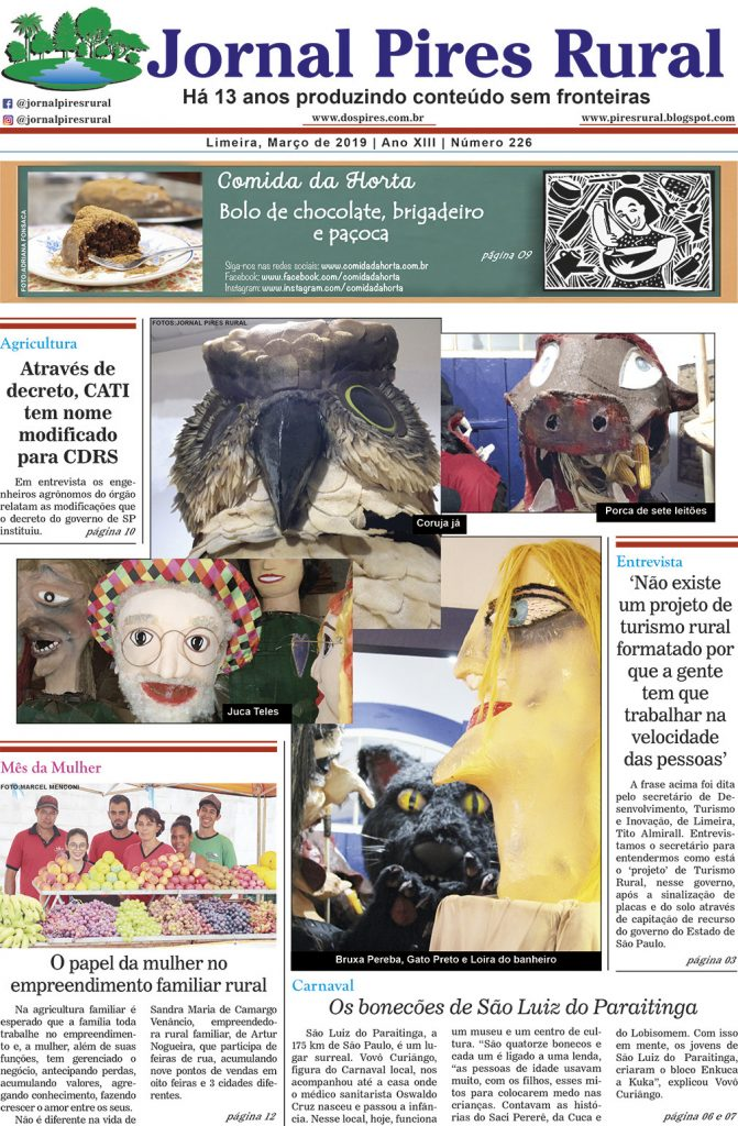 Jornal Pires Rural - ed 226 - capa