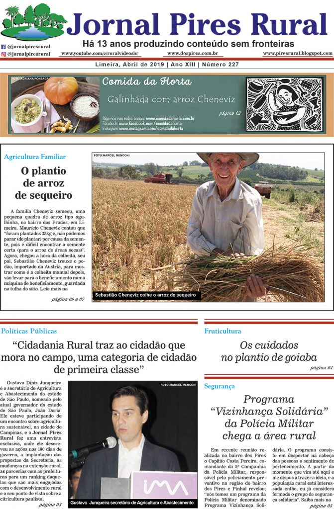 Jornal Pires Rural - ed 227 - capa
