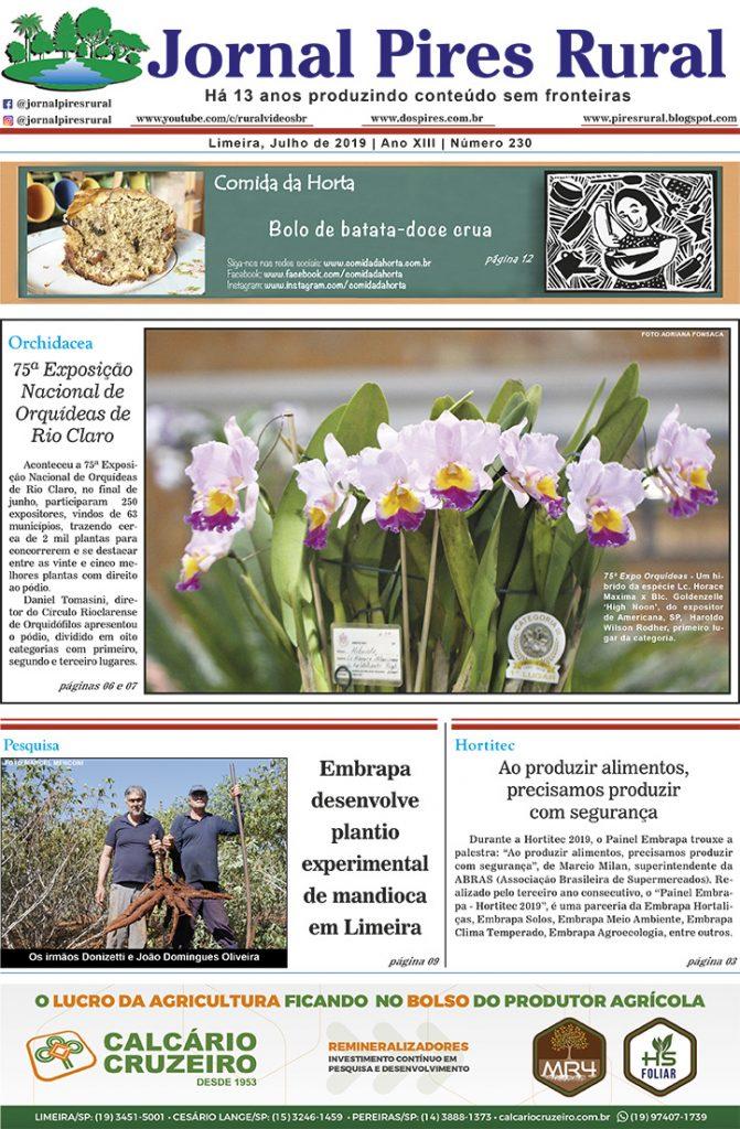 Jornal Pires Rural - capa edição 230 - Julho 2019