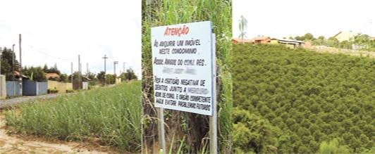 Ações para coibir novos parcelamentos de chácaras na área rural