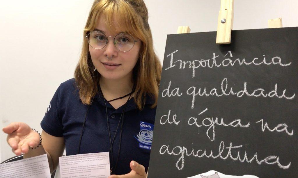 Isabela Butturi, aluna do 1º ano de Gestão Ambiental na Esalq