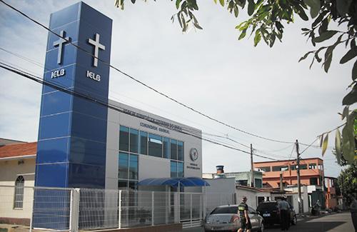 A nova Igreja; prédio construído da Igreja Luterana do Brasil, em Serra/ES