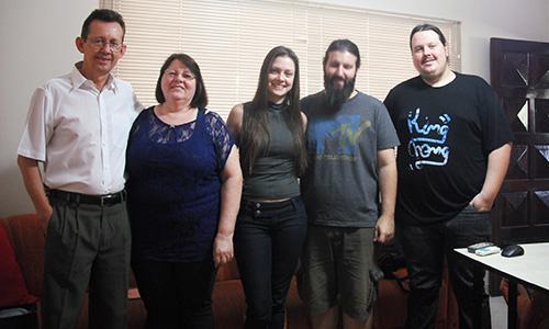 Família: Osmar Schneider, Naemi Ledi Skalee Schneider, Beatriz Schneider, Romulo Ramazini Felicio, Wiliam Fernando Schneider