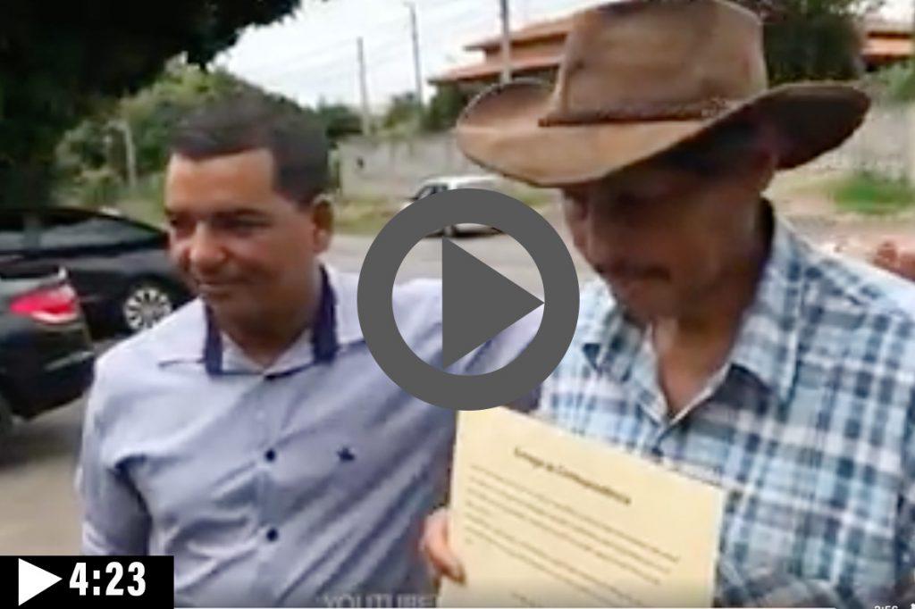 Clique e assista para as correspondência chegarem até o bairro dos Pires