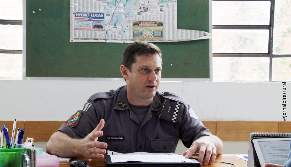 comandante da 5ª Cia da Polícia Militar