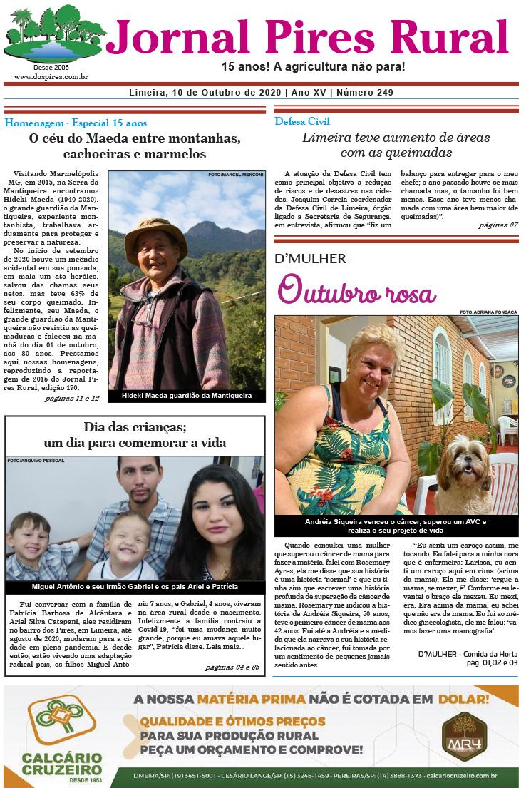 Capa edição 249 - Jornal Pires Rural