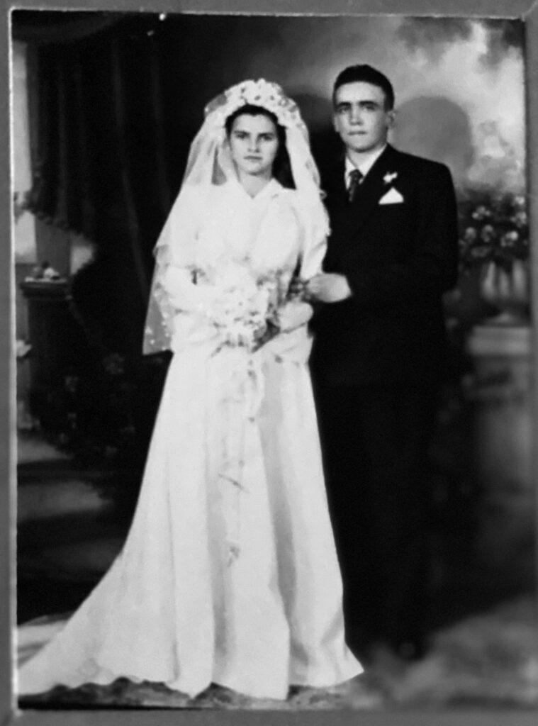 Maria e João Simon, o matrimônio em 1952