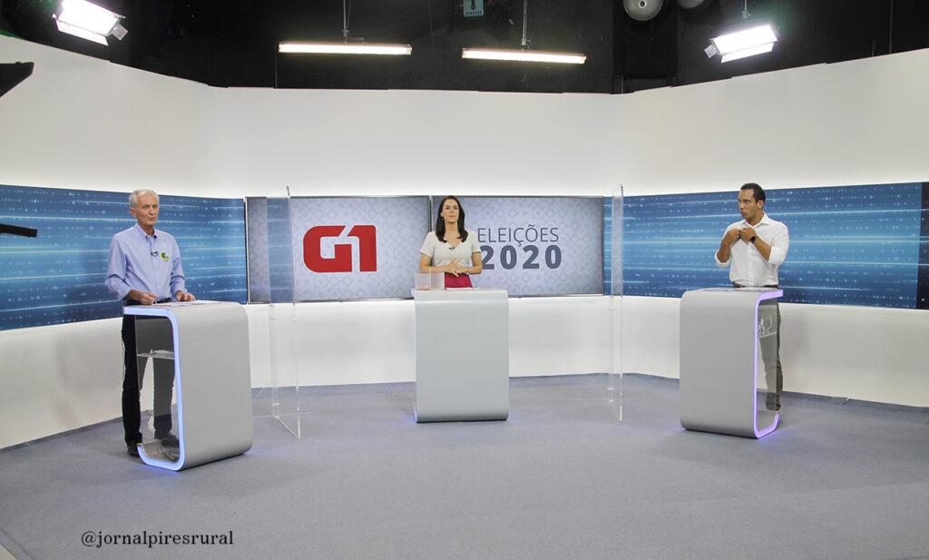O encontro entre Mario Botion (PSD) e Murilo Félix (PODEMOS) nos estúdios da EPTV Campinas