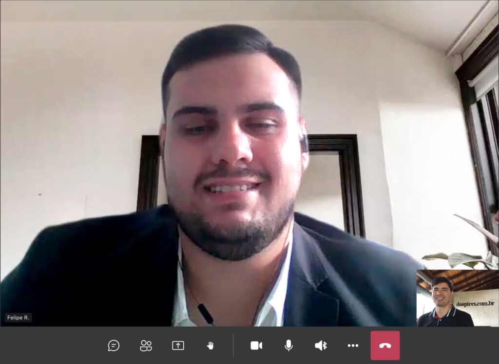 Advogado Dr. Felipe Rissotti Balthazar direto de seu escritório concede entrevista remota