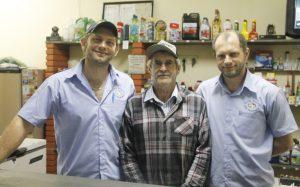 Marcelo, Luis Zabin e Márcio